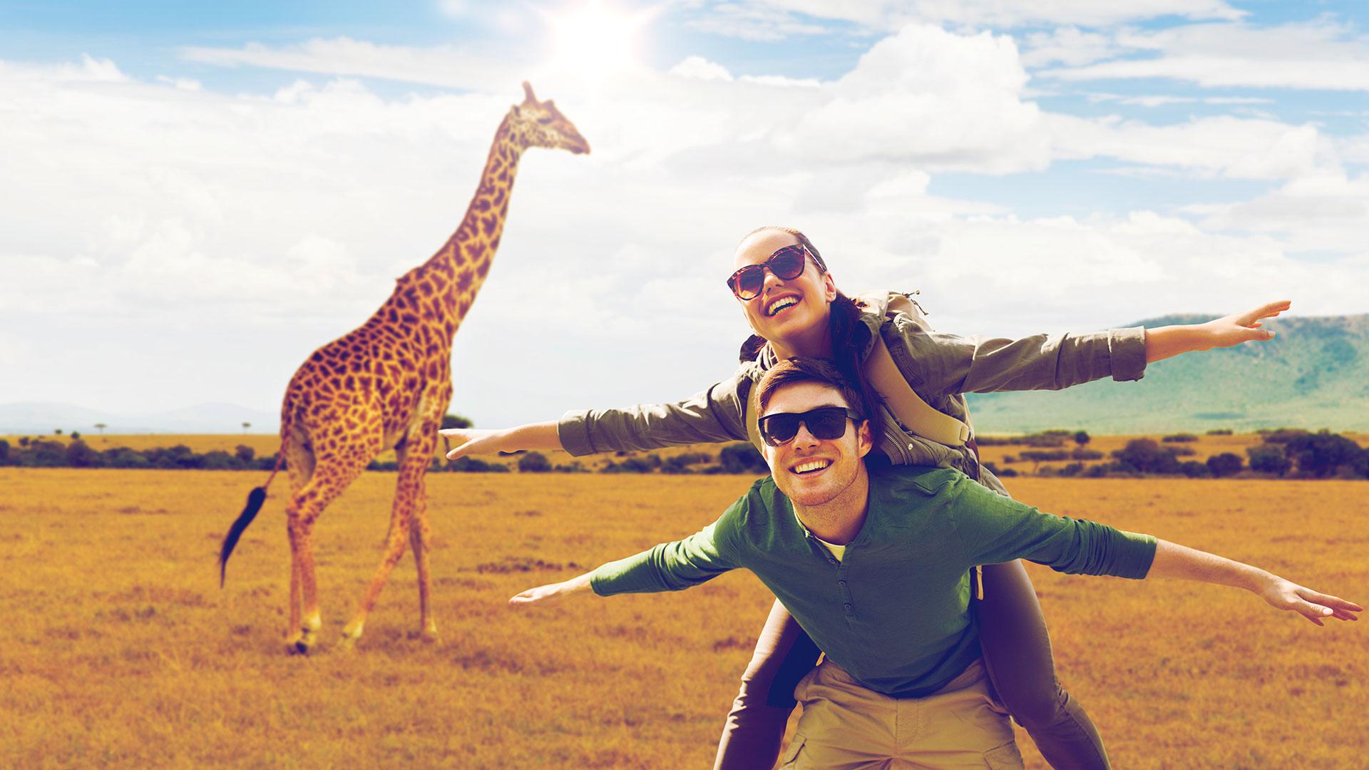 couple safari